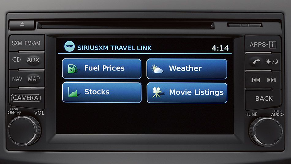 2015 NISSAN VERSA® NOTE® equipped with SiriusXM Travel