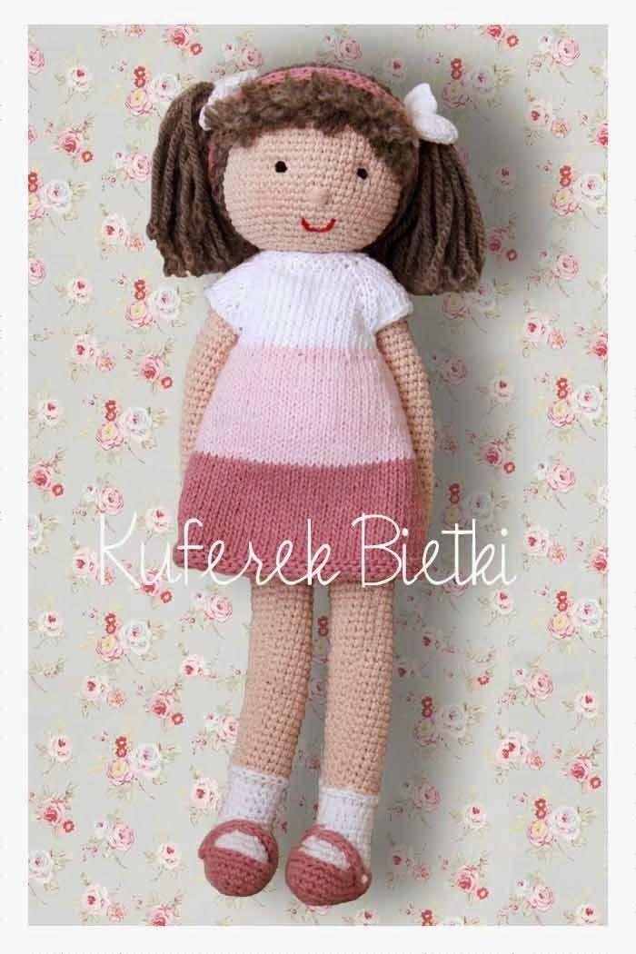 Kuferek Bietki: Malinka - lalka na szydełku/ Himbeere, Gehäkelte Puppe/ Raspberry, the crocheted doll http://lalkimisie.blogspot.com/2013/11/malinka-lalka-na-szydeku-himbeere.html