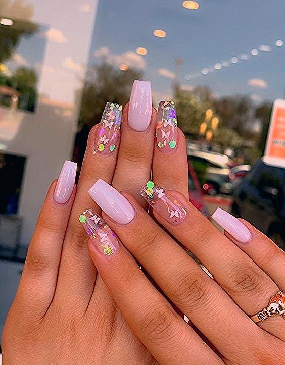 35 schöne rosa Nageldesigns Pink Nails Ideen