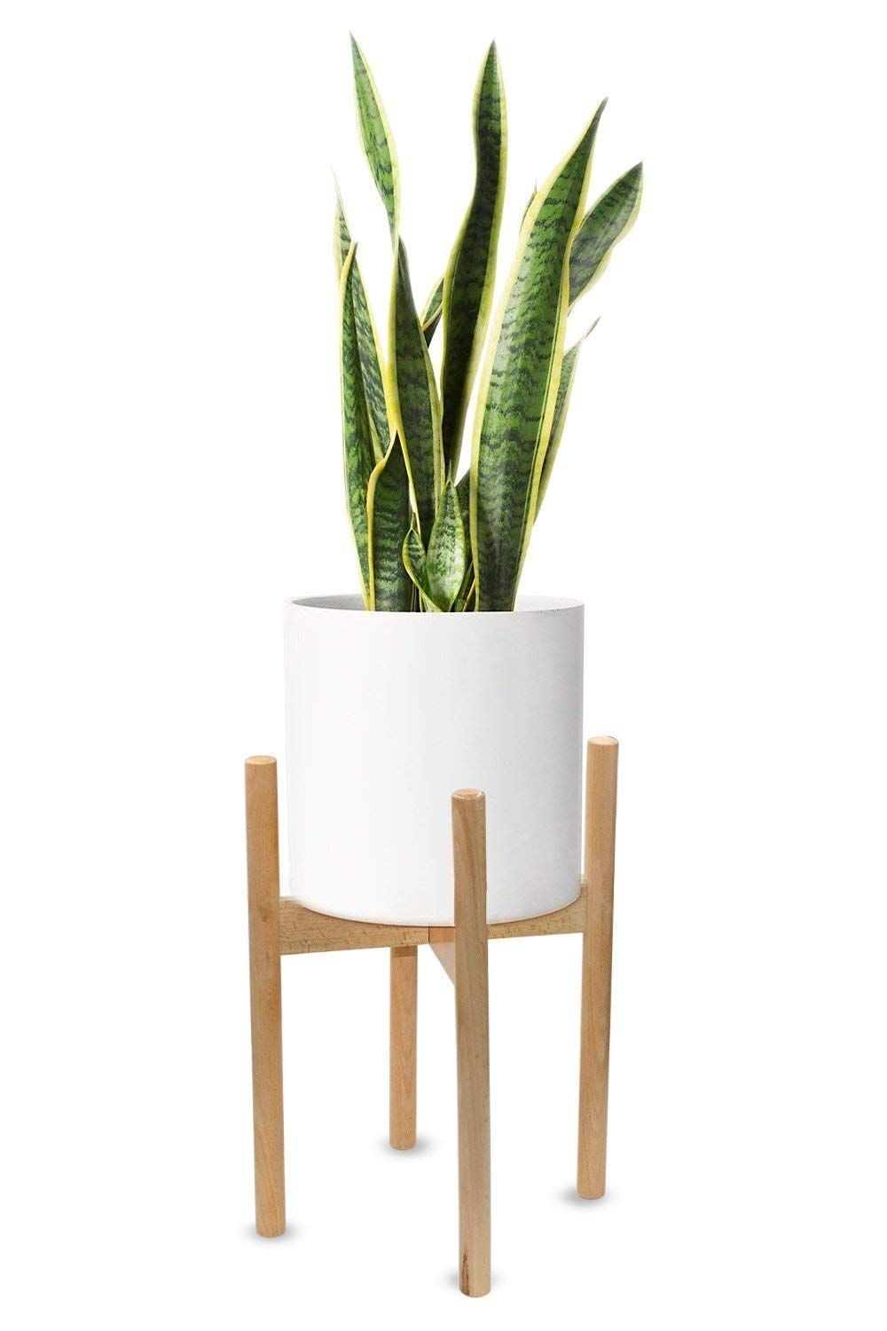 Amazon Com M Aimee Plant Stand Mid Century Wood Flower Pot Holder Display Potted Rack Rustic Up To 10 Inch Flower Pot Holder Plant Stand Modern Plant Stand