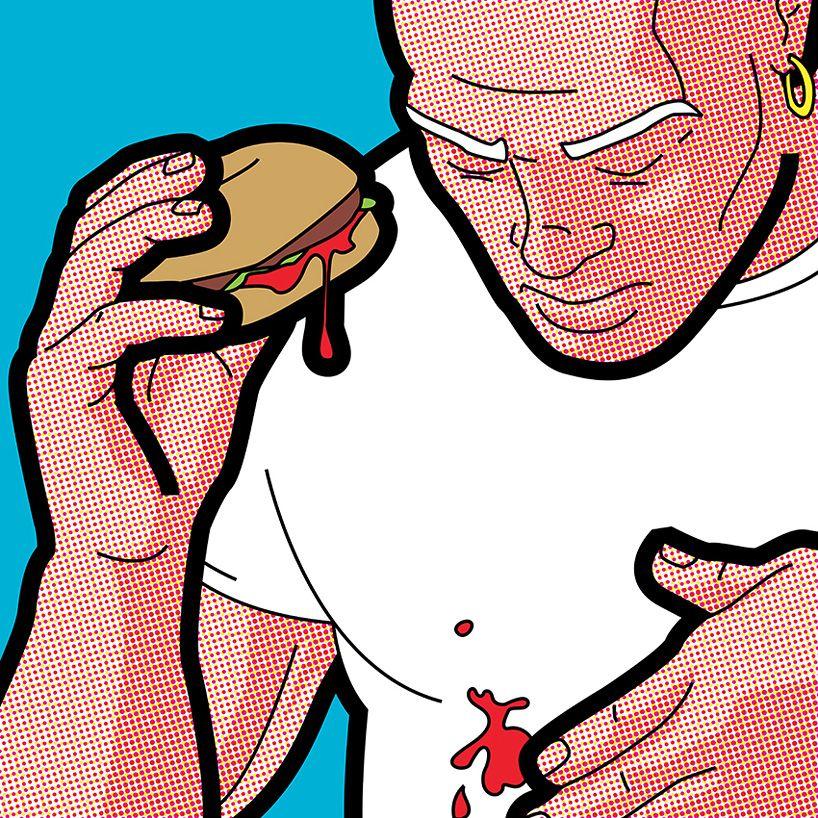 pop-art illustrations imagine the domestic lives of superheros