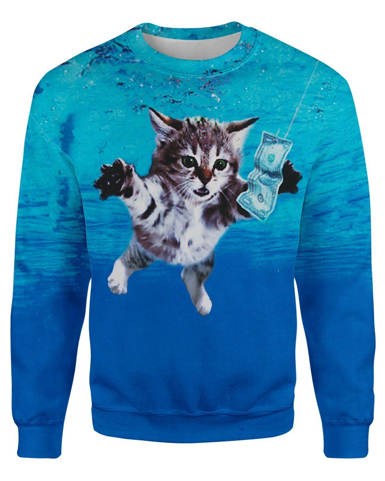 Cat Cobain Unisex Sweatshirt In 2021 Sweatshirts Cat Sweatshirt Long Sleeve Sweatshirts [ 1600 x 1280 Pixel ]