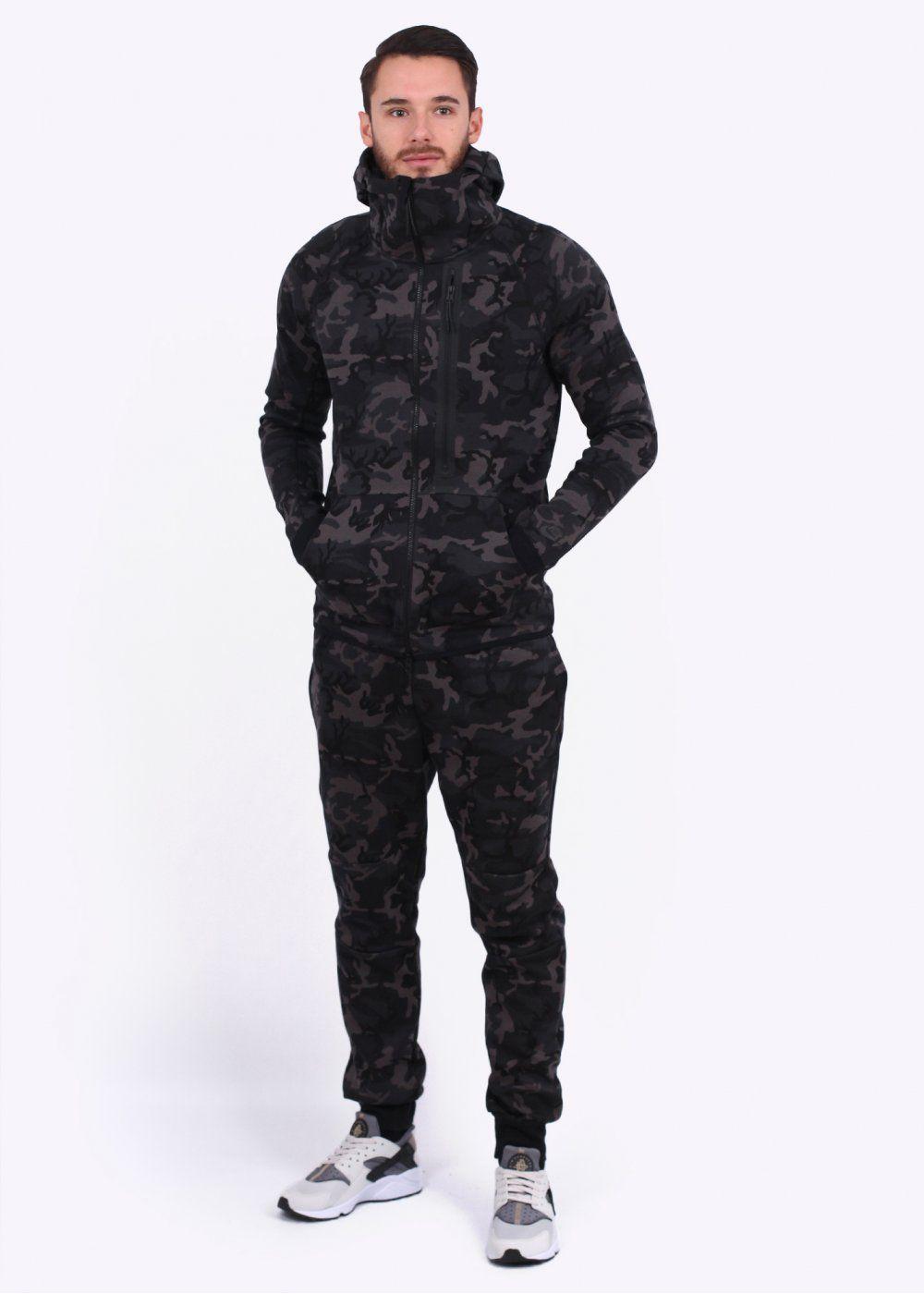 2fa2b947994ec Nike Apparel Tech Fleece Camo Hoody - Medium Ash   Fits   Tech ...