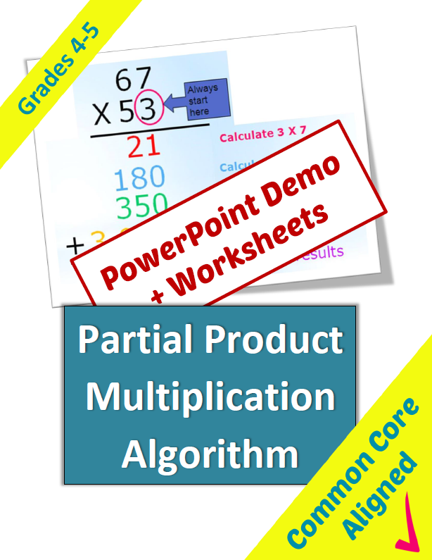 Partial Product Multiplication Lesson And Worksheets Math Ideas