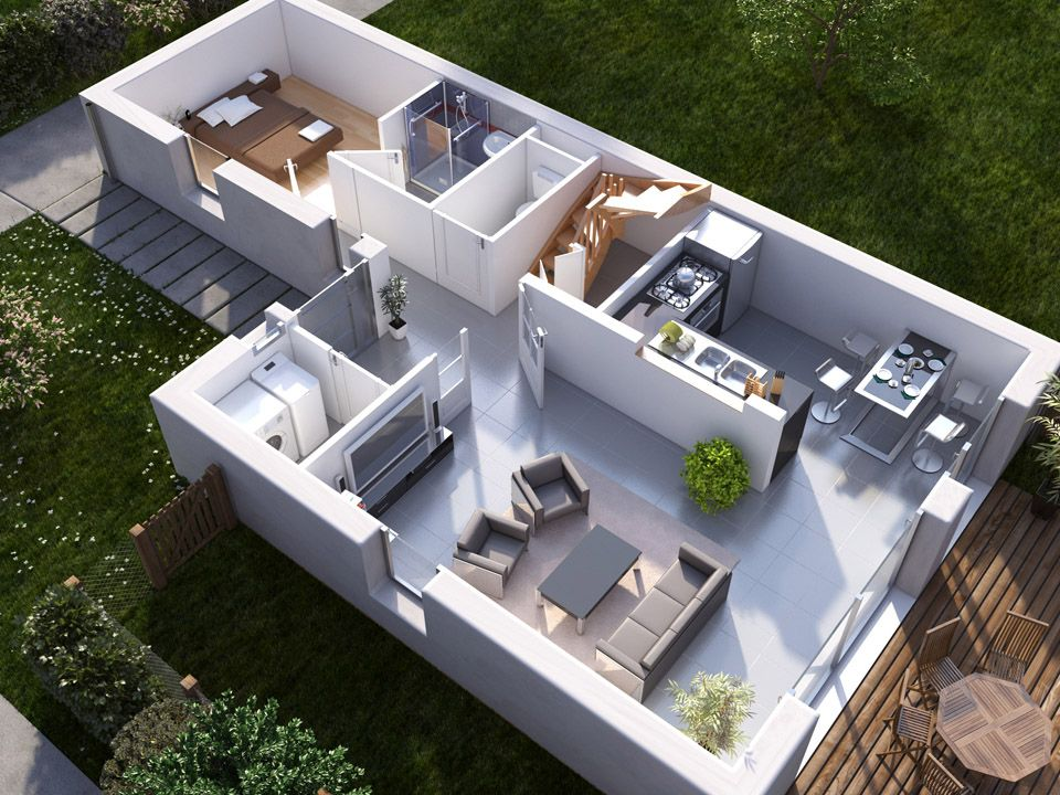 Architecture - Plans - 3D 3D평면도 Pinterest Architecture plan - logiciel construire sa maison