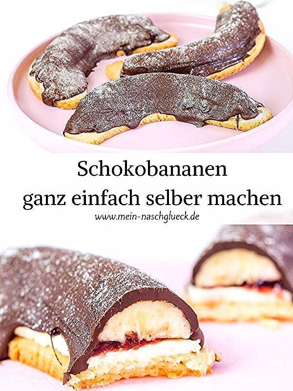 Schokobananen Einfach Selber Machen In 2020 Chocolate Cookie Recipes Chocolate Chip Recipes Cake Recipes Easy Homemade