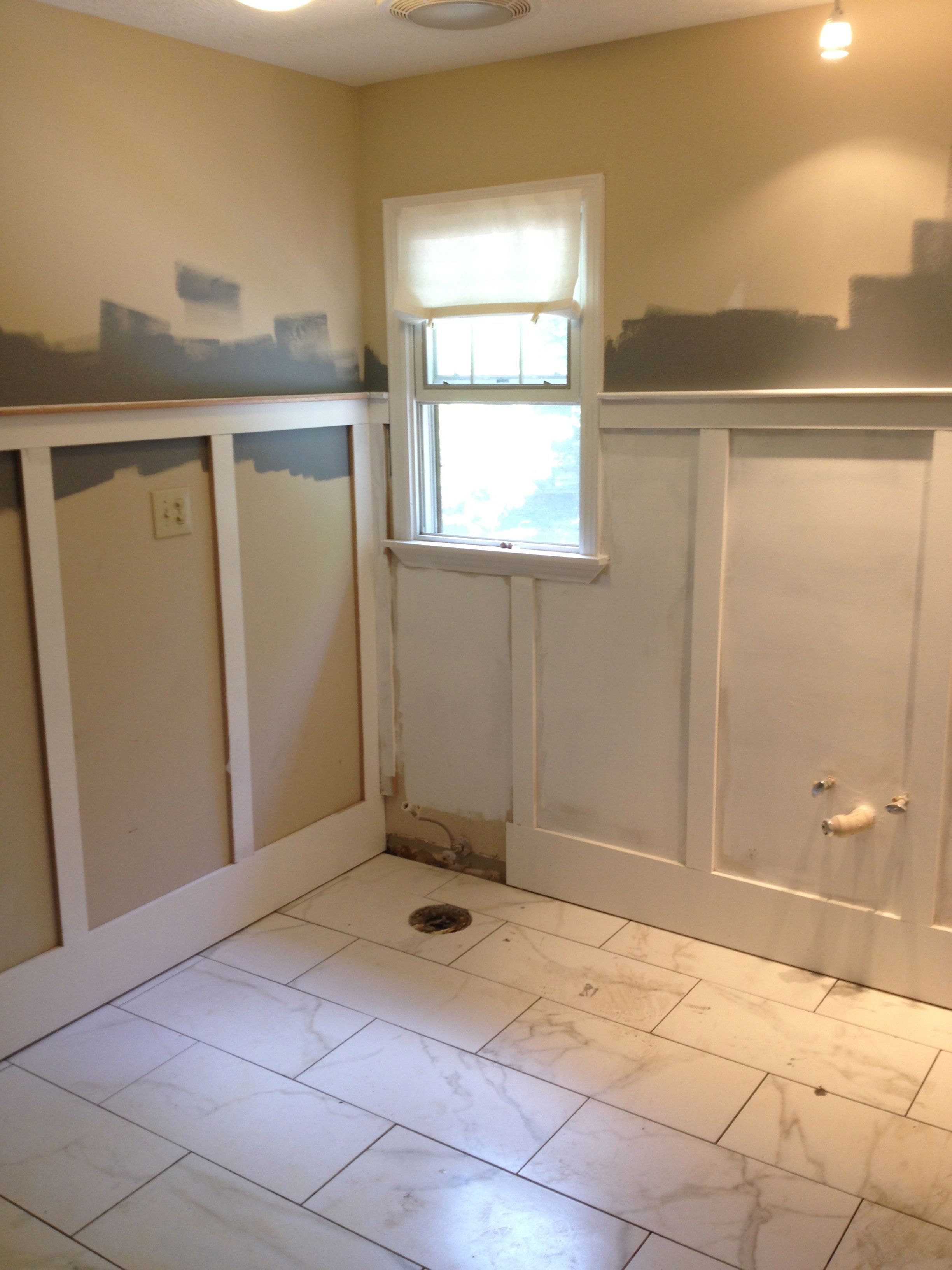 Wainscoting During Bathroom Renovation Home Renovation