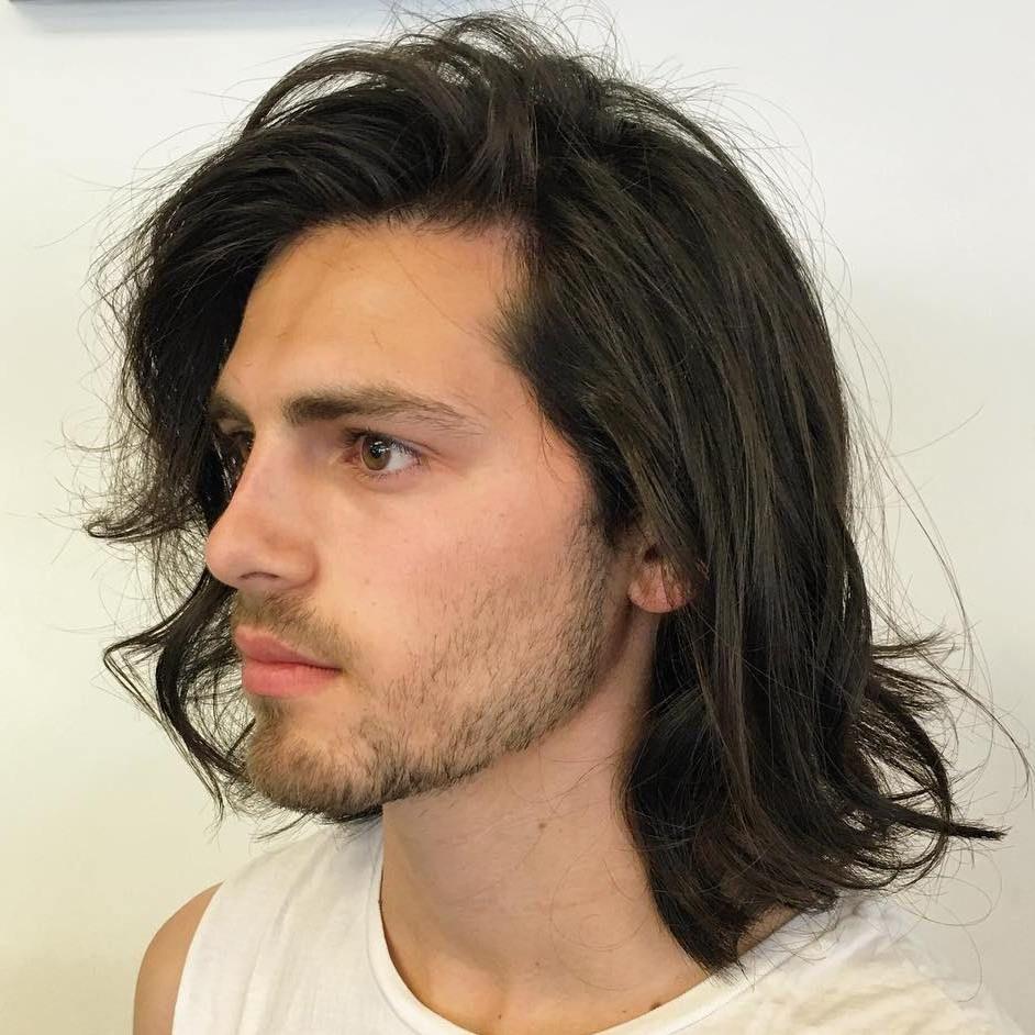 el cabello largo a los hombros pelo largo para los hombrespara hombrescortes - Cortes De Pelo Largo Hombre