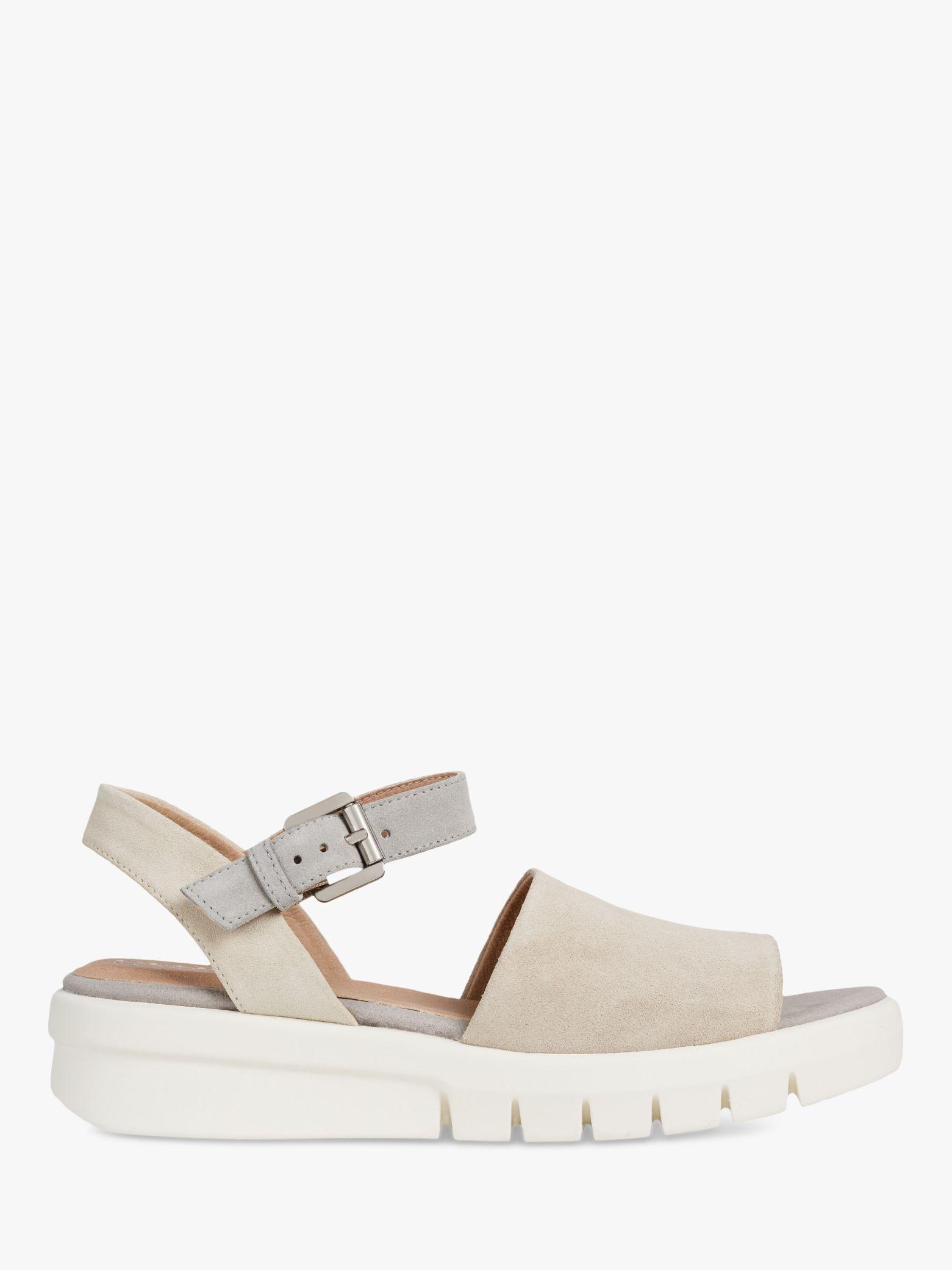 recoger Excelente calidad materiales de alta calidad Geox Women's Wimbley Flatform Sandals, Light Taupe/Cream | Sandals ...