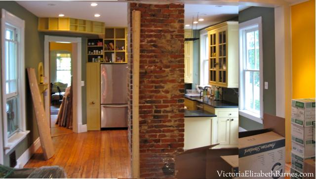 Open Concept Kitchen Living Room Small Half Walls