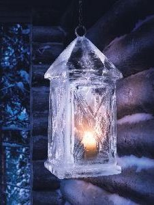 Ice Lantern. Hmmmm ...is this from a commercially available mold? Or home made?