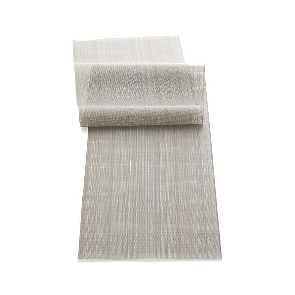 Chilewich Neutral Stripe Table Runner Striped Table Runner Linen Table Runner Chilewich