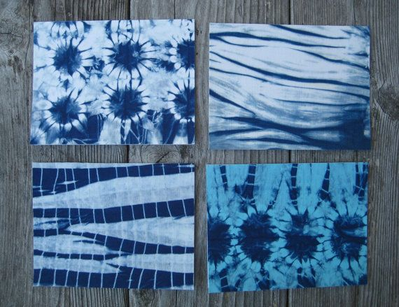 Indigo Shibori Fabric Notecards by CapeCodShibori