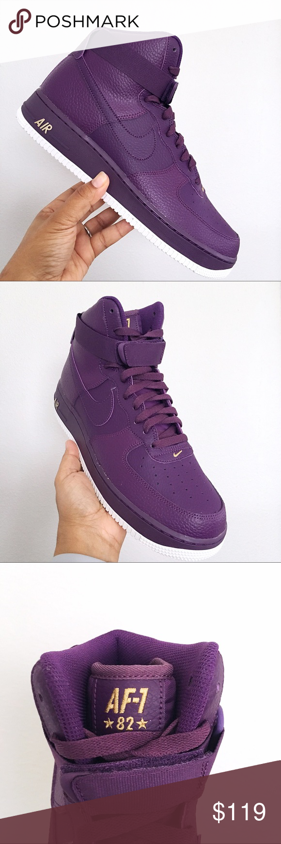 details for dirt cheap aliexpress Nike Air Force 1 High 07 Night Purple Mens Shoes Brand New ...