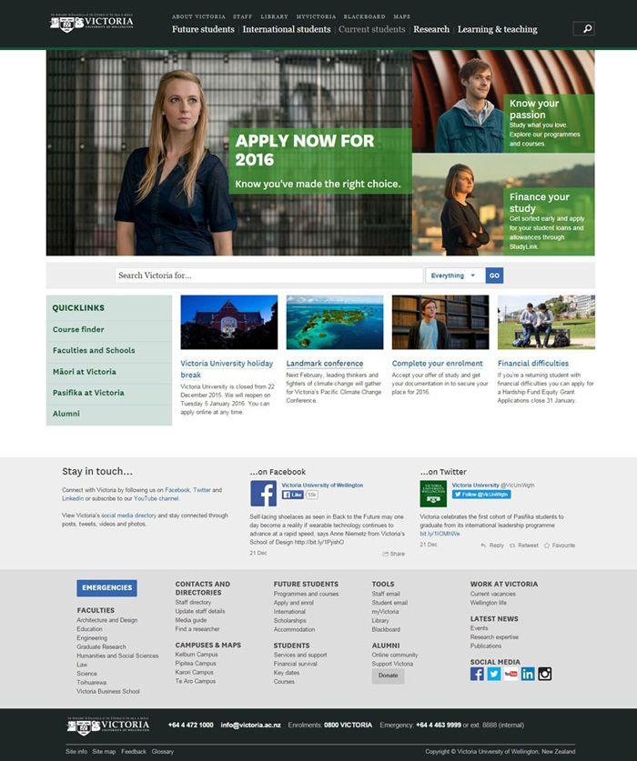 30 University And College Websites Inspiration Designyep Colleges And Universities University Web Development Design