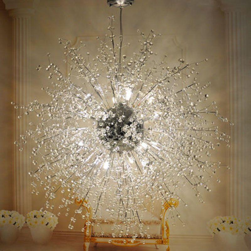 Modern Dandelion Led Chandelier Fireworks Pendant Lamp Ceiling Lighting Lights Unbranded Modern Led Chandelier Chandelier Creative Crystal Chandelier Bedroom