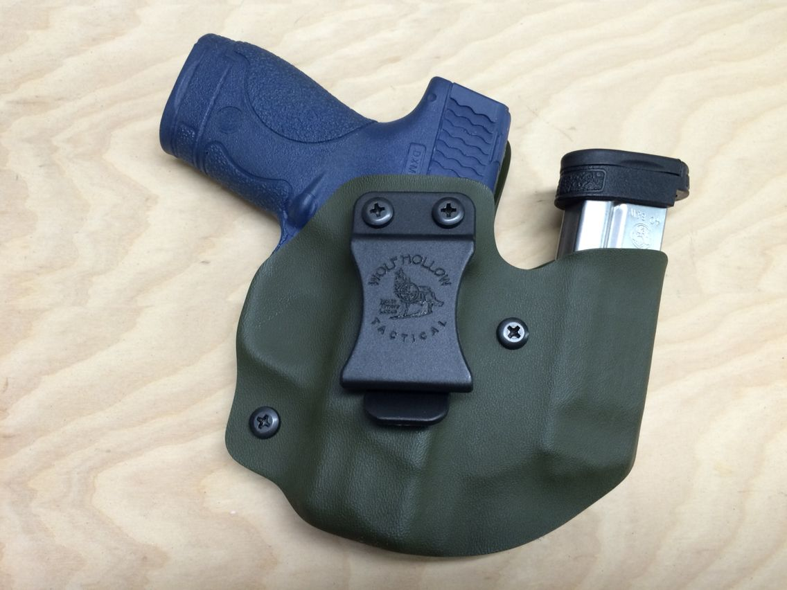Concealed Carry Magazine Holder Wolf Pack AIWB holster mag holder combo for Smith Wesson Shield 15