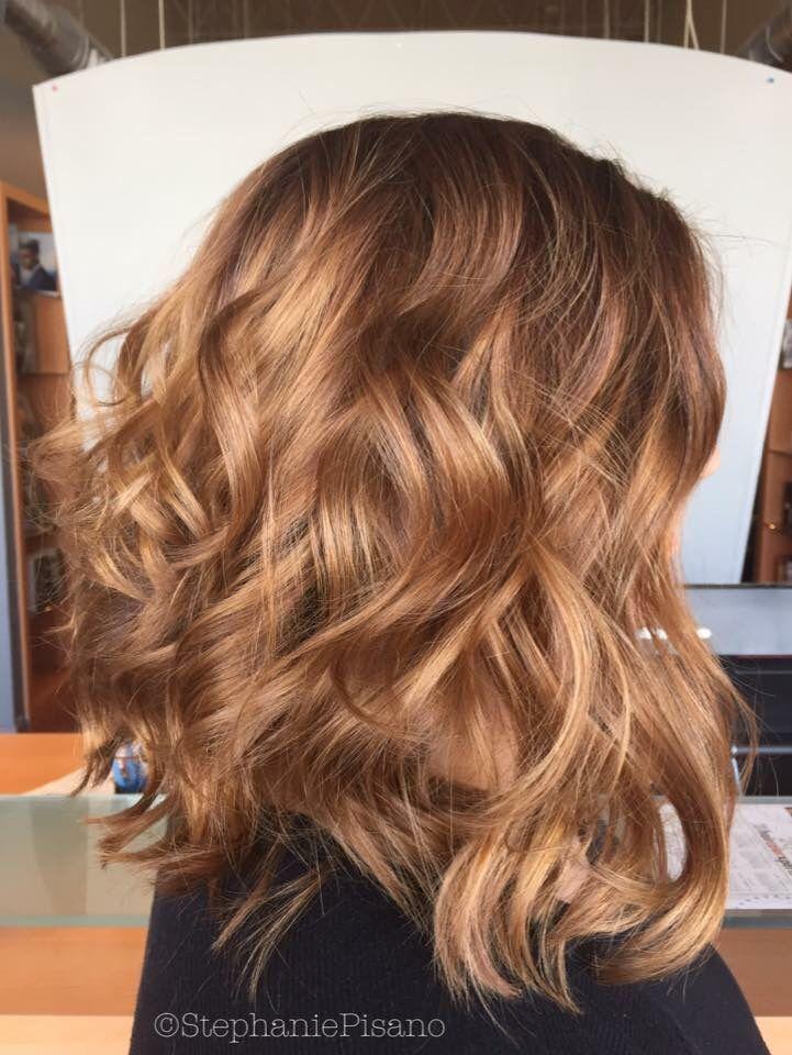 Schone caramel haarfarbe