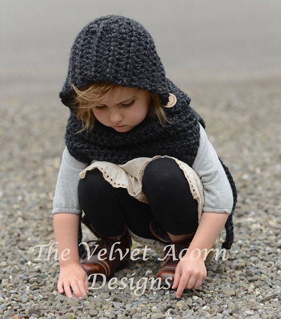 Crochet PATTERN-The Barron Hood (12/18 months-2, 3/4, 5/7, 8/12 ...