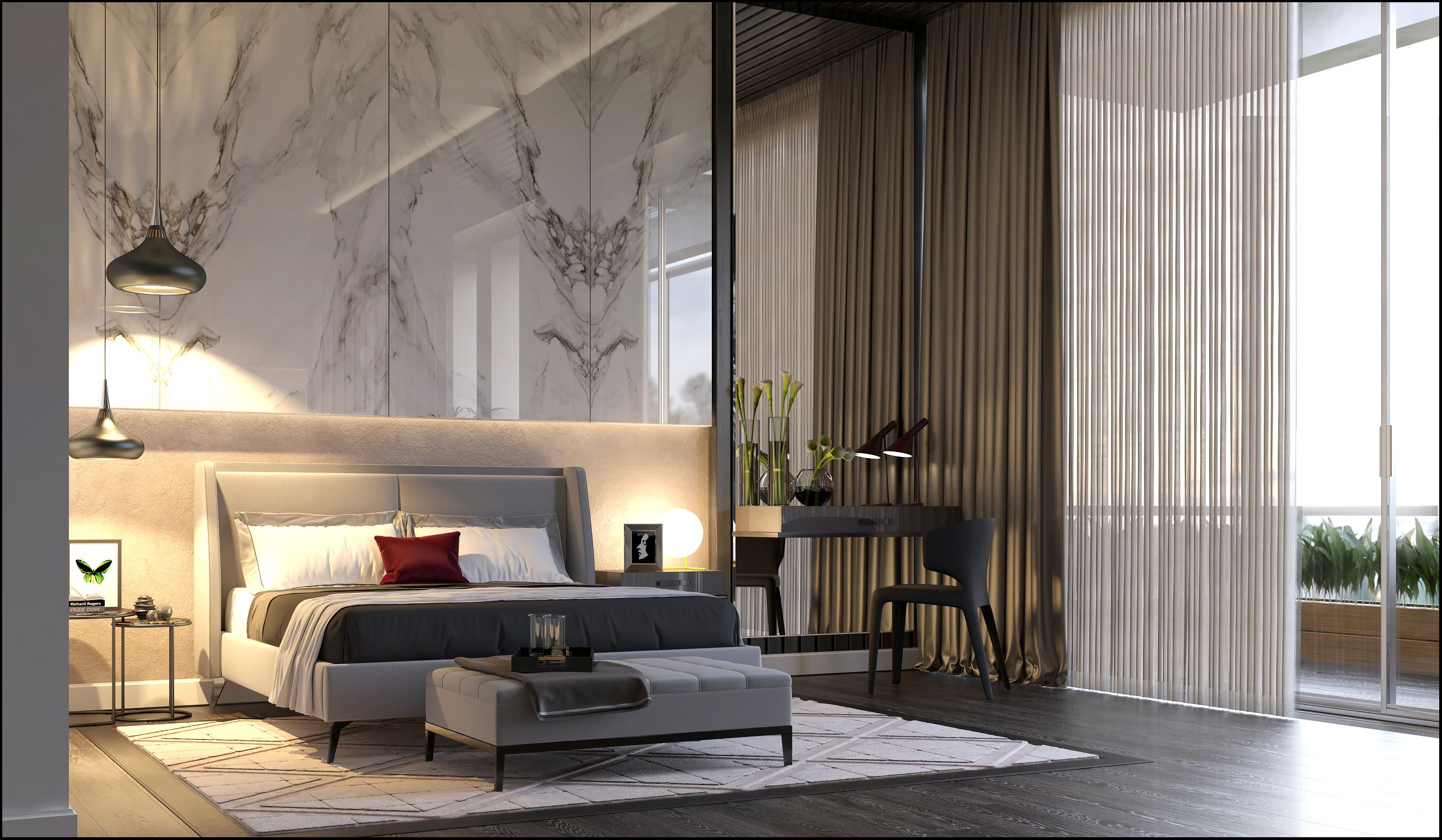 Luxury apartment on Behance Luxury bedroom master