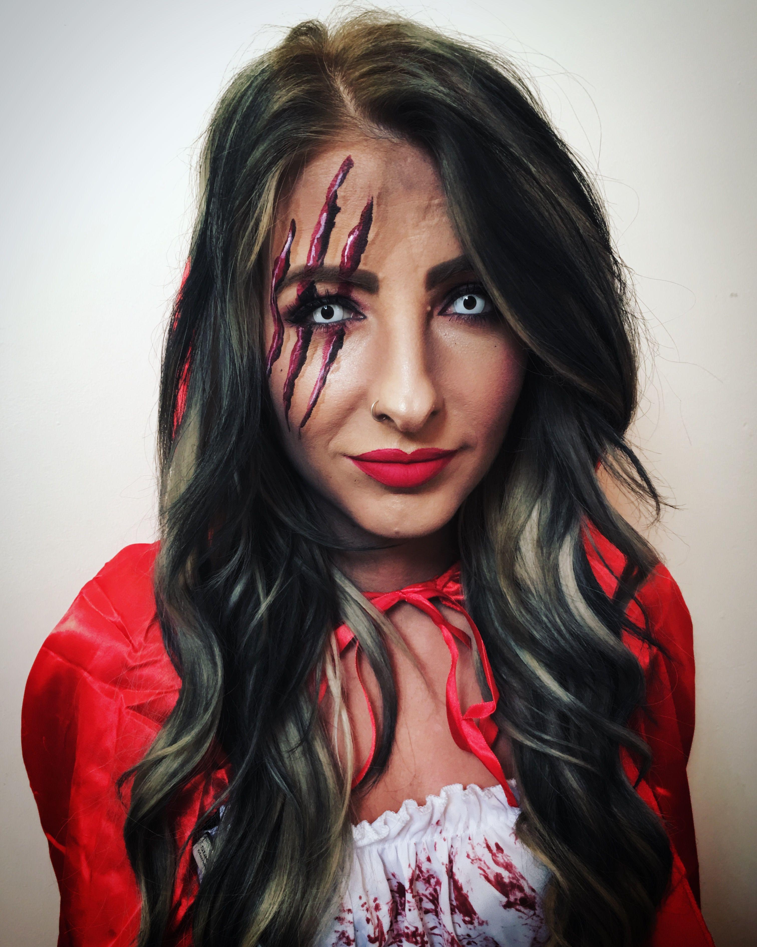 Little Red Riding Hood Face Paint Face Face Makeup Halloween Face Makeup