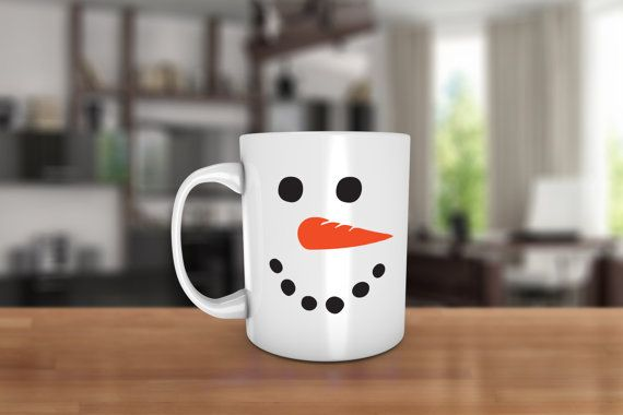 Snowman Ceramic Coffee Mug  Dishwasher Safe  by JcDezigns on Etsy starting at $15.99