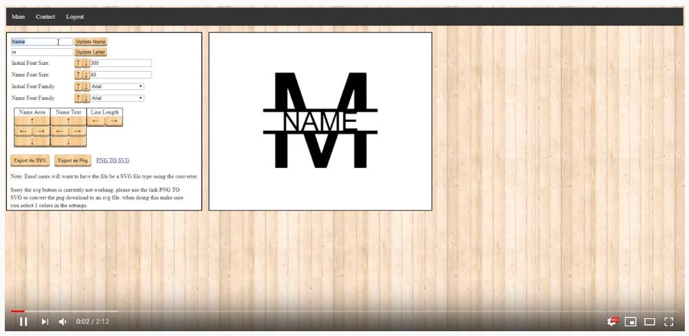 Template4me Monogram Generator Split Letter SVG Stencil