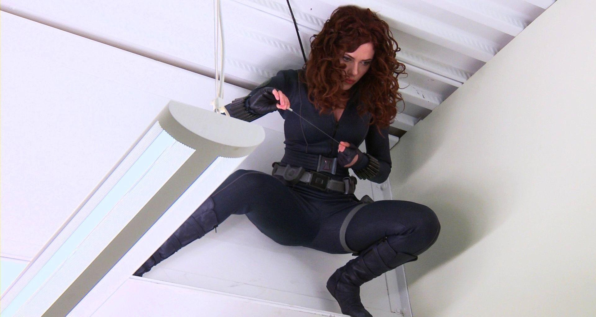 women Scarlett Johansson Black Widow Iron Man  ua