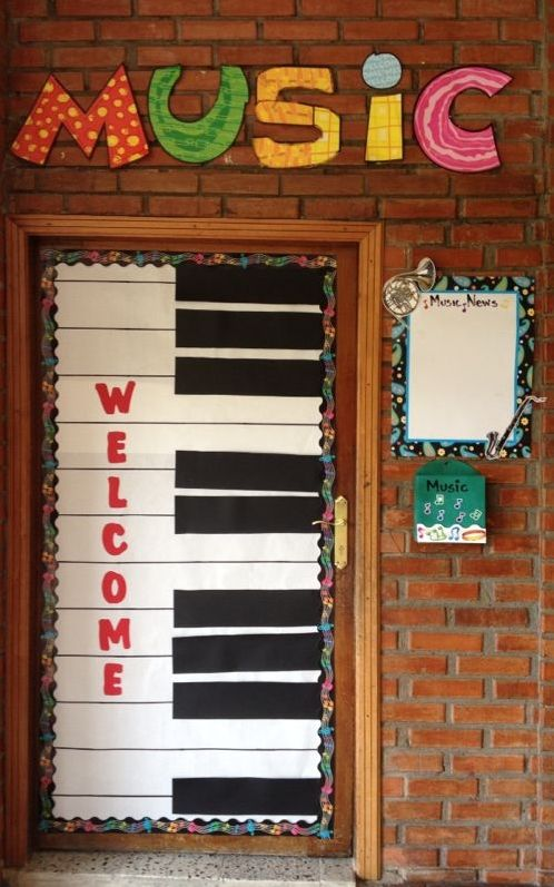 Classroom Decoration Ideas For Elementary : Decorate your doorway seran school music classroom mrs
