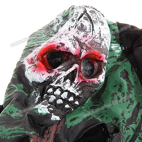 Cheap Trick SGF-02 Sonic Ghost Face Mask with Black Hood and Lighting for Halloween Costume Ball |