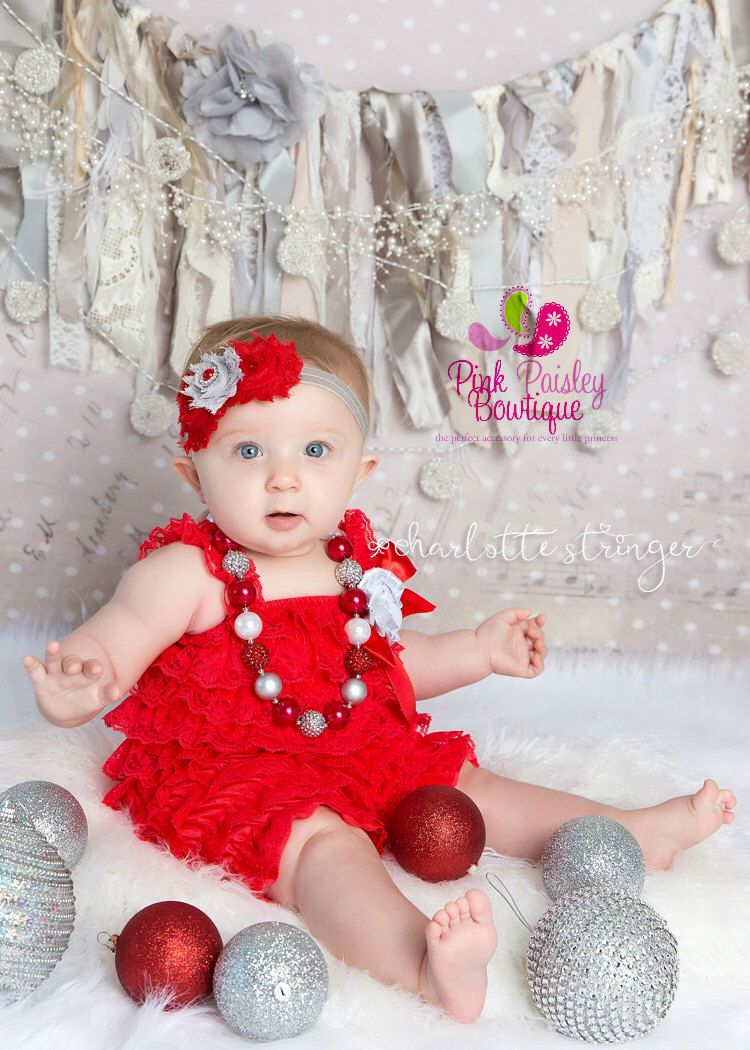 Cake smash outfit baby girl 1st birthday outfit red