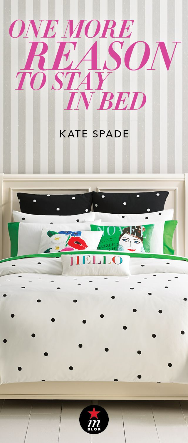 32eaabd6651 This just in  The kate spade new york bedding collection has officially  arrived at Macy s! Head over to mBLOG for the full scoop on the new line now
