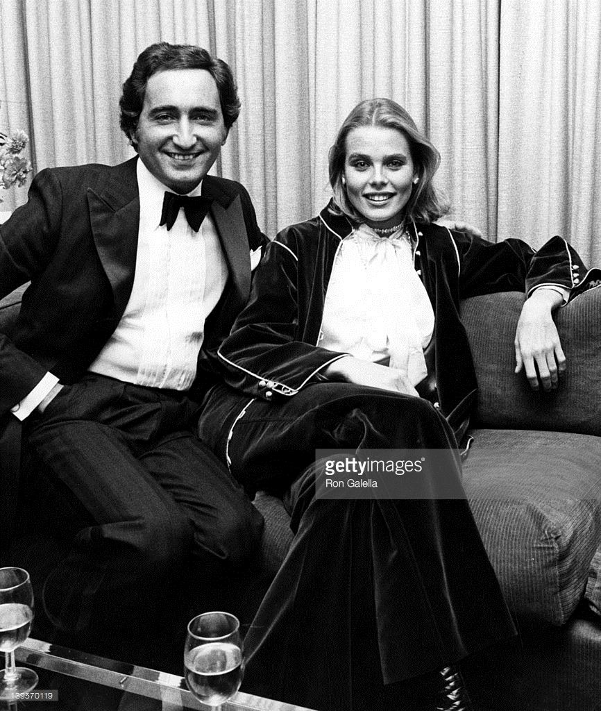 Actress Margaux Hemingway and husband Erroll Wetson attend the opening of Nicola Simbari Art Exhibit on November 4, 1976 at the Wally Finely Gallery in New York City.