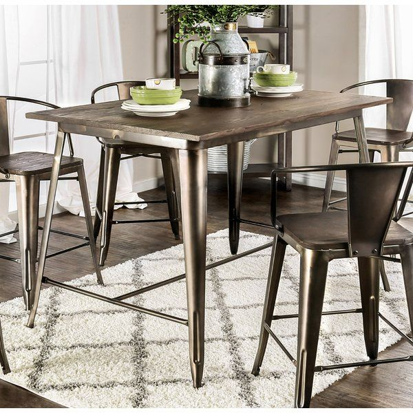 Reedley 5 Piece Counter Height Dining Set Counter Height Dining Table Dining Table In Kitchen Pub Table Sets