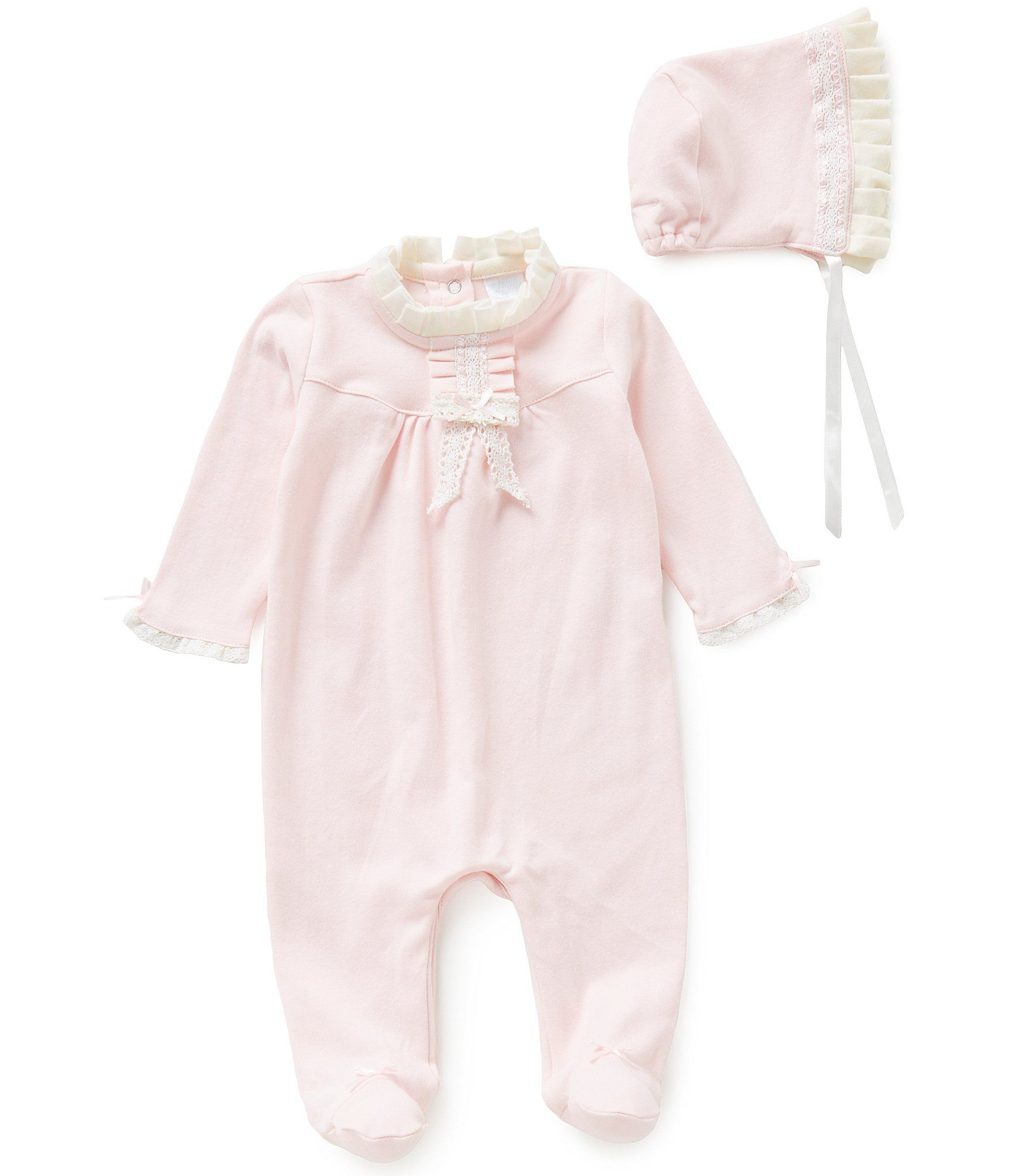338394c24 Shop for Edgehill Collection Baby Girls Newborn-6 Months Ruffled Coverall &  Bonnet Set at Dillards.com. Visit Dillards.com to find clothing,  accessories, ...