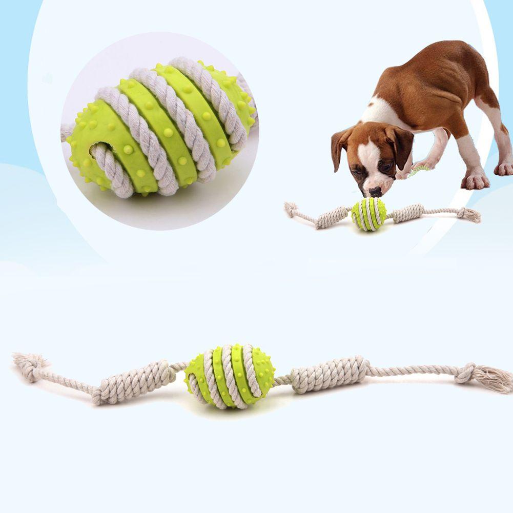 1pcs Pet Dog Toys Rubber Puppy Cat Dental Teething Teeth Chew Bone