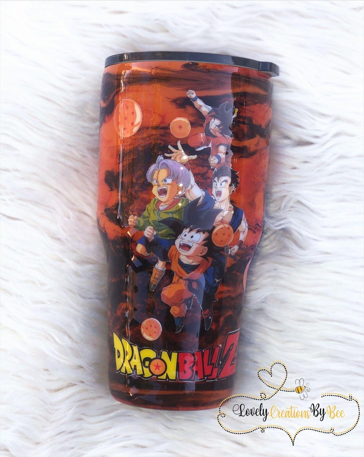 Dragon Ball Z Tumbler Tumbler Cups Diy Cup Crafts Glitter Cups