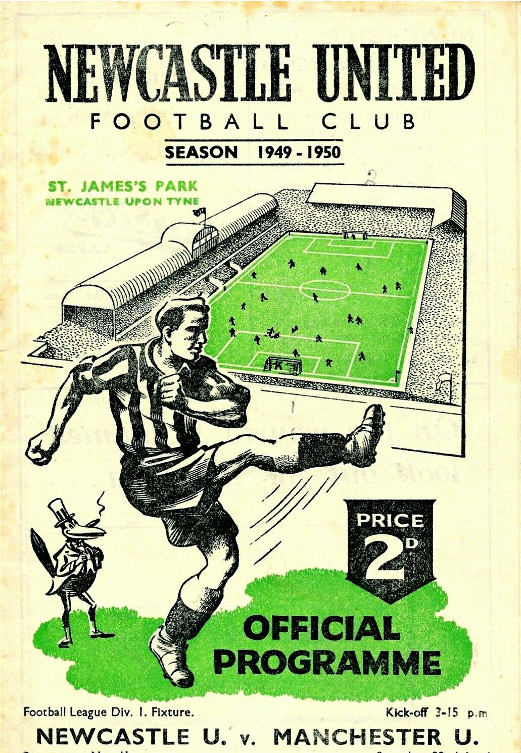 Newcastle United v Manchester United Official Programme