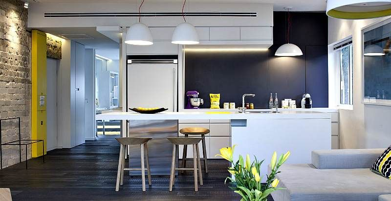 eclectic מטבח ןאי שולחן Pinterest Tel aviv, Kitchens and Lofts