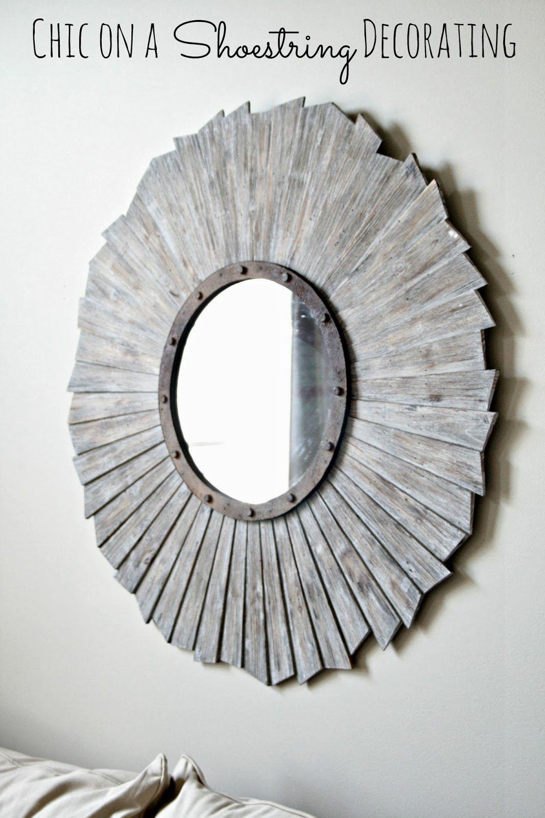 Chic On A Shoestring Decorating Blog Living Room Makeover Restoration Hardware Style Mirror