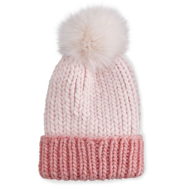 Eugenia Kim Rain Hat with Fur Pom Pom ($250) ❤ liked on Polyvore featuring accessories, hats, pink, fur hat, pink hat, vintage feather hat, vintage hats and eugenia kim