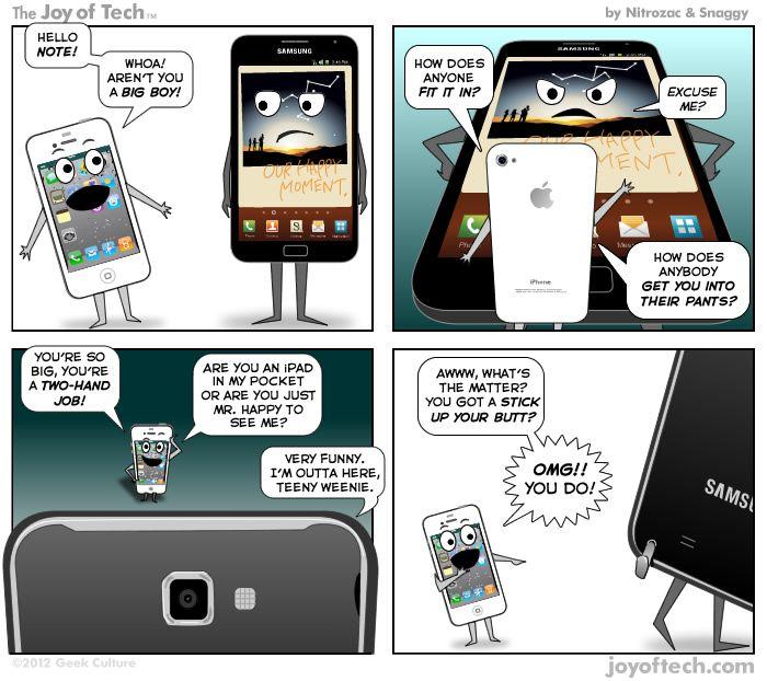 iphone vs pauvreté charicature