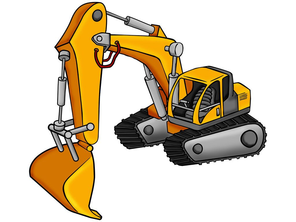 Excavator Cartoon By Himuralbr On Deviantart Excavator Cartoon Themed Kids Room