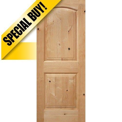 9101 Interior 68 2 Panel Arch Knotty Alder Wood Door Slab