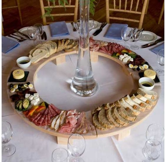Wedding Reception Food Table Ideas: Round Table Grazing Table Ideas Grazing Table Ideas And
