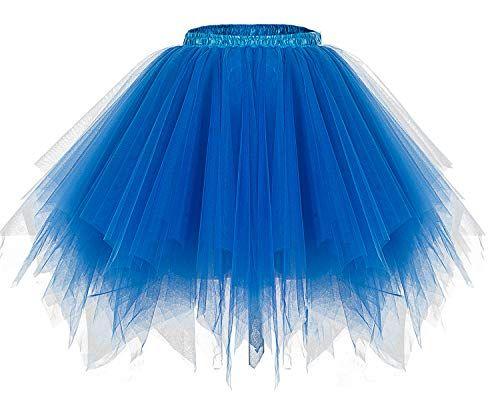 Bridesmay Womens Tutu Halloween Tulle Skirt 50s Vintage Ballet Bubble Dance Skirts