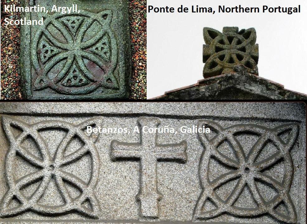 Same Celtic Symbols Unites Scotland And Gallaeciagalicia And