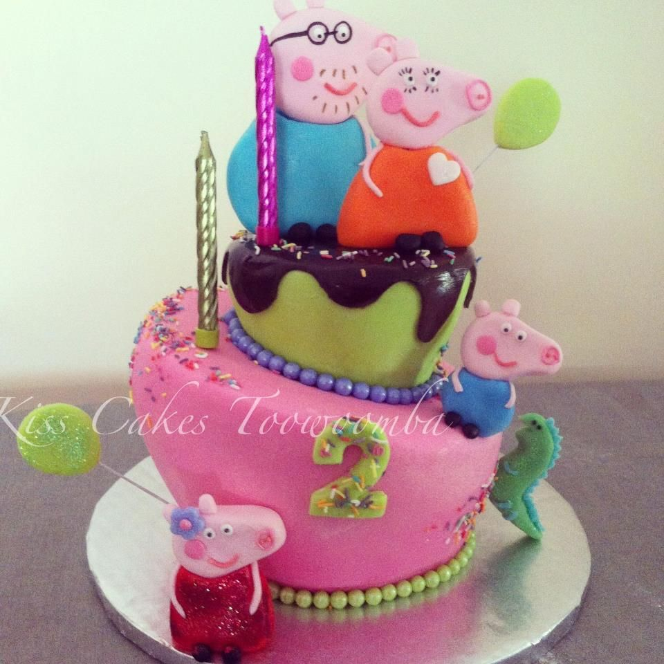 Peppa Pig Birthday Cake by Kiss Cakes Toowoomba ...