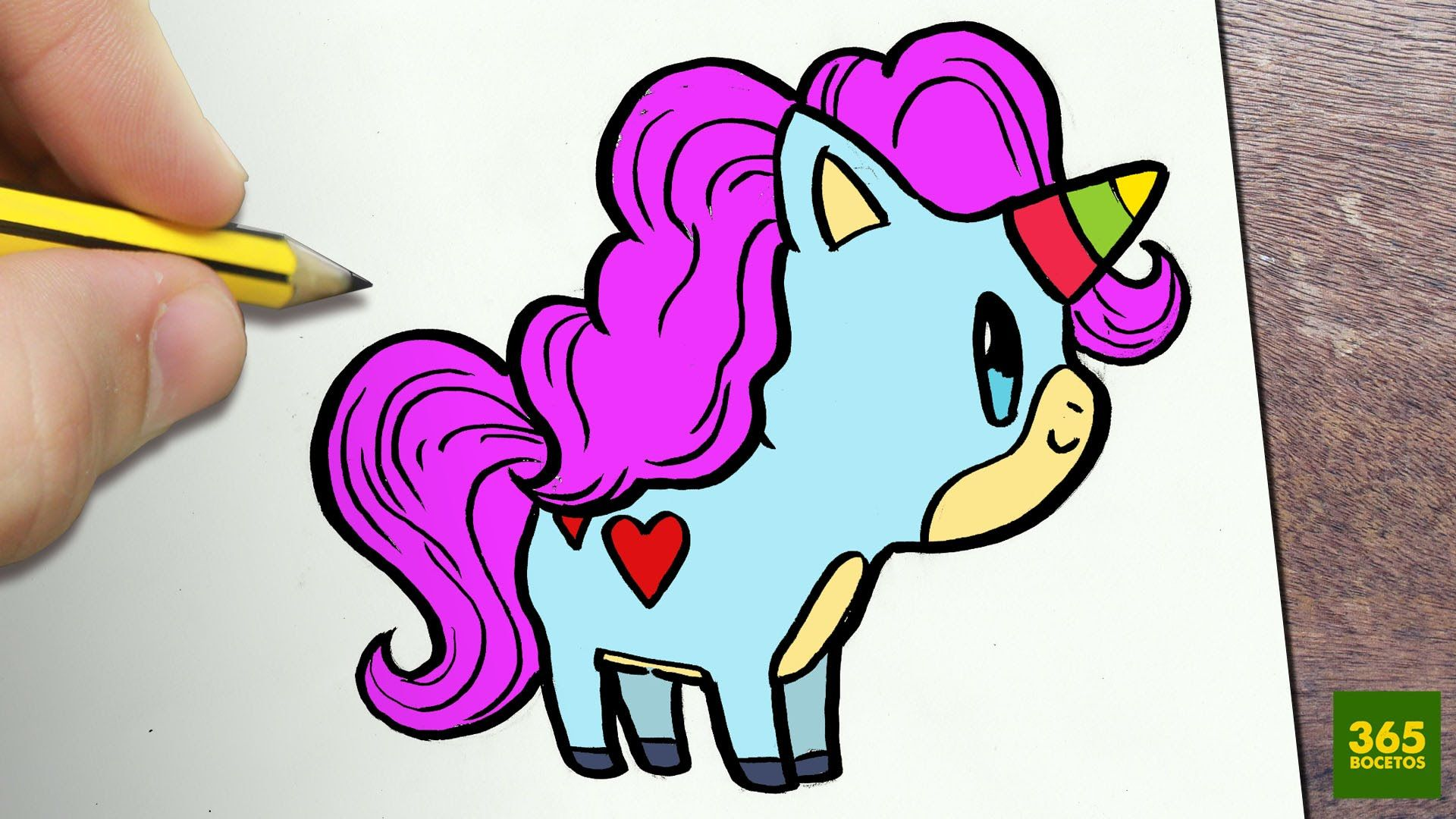 Como Dibujar Unicornio Kawaii Paso A Paso Dibujos Kawaii Faciles