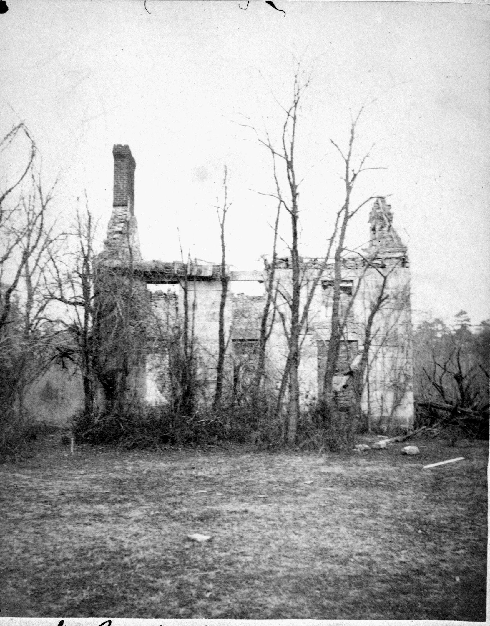 (1860s) Ruined building - Fredericksburg, VA